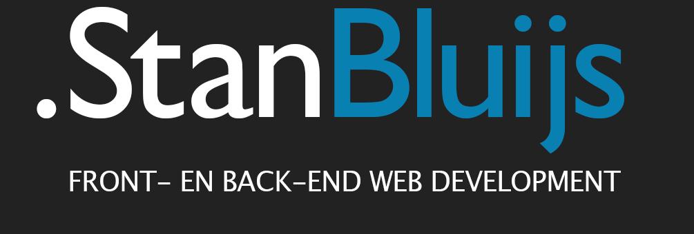 .Stan Bluijs front- en back-end web development